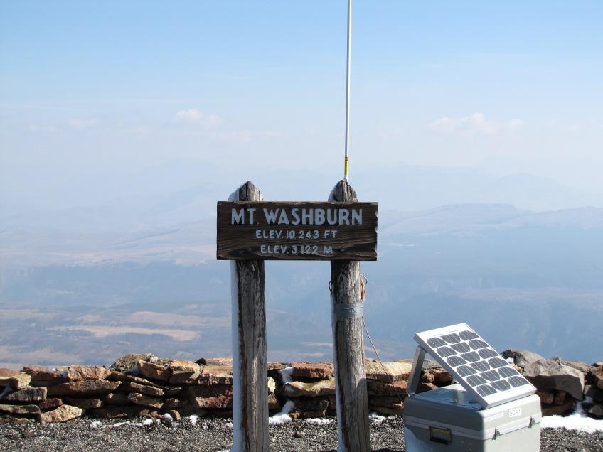Sommet du Mont Washburn